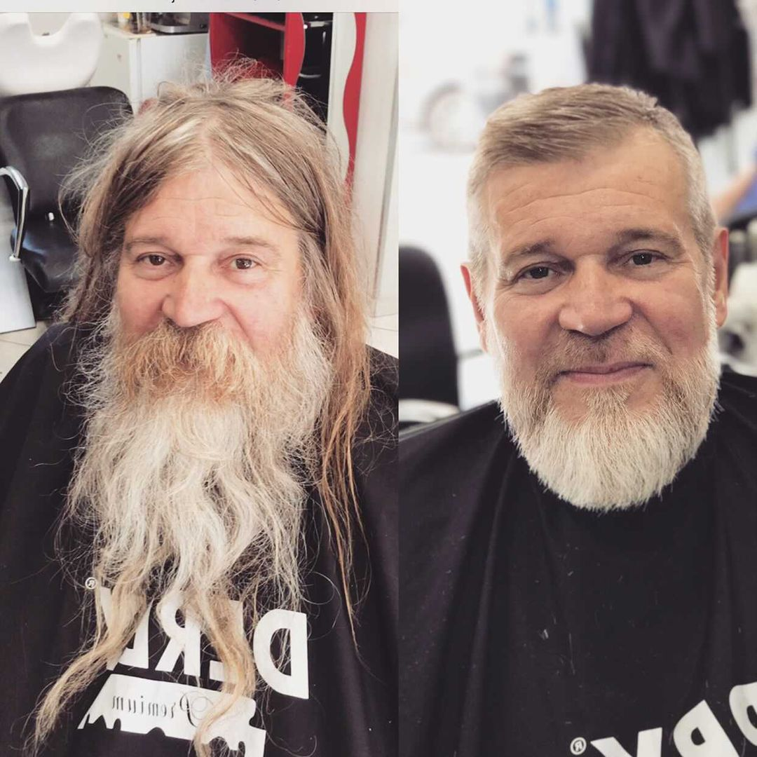 French Barber Gives Homeless Man Incredible Transformation And Video Goes Viral In 2021 Homeless Man The Incredibles Barber