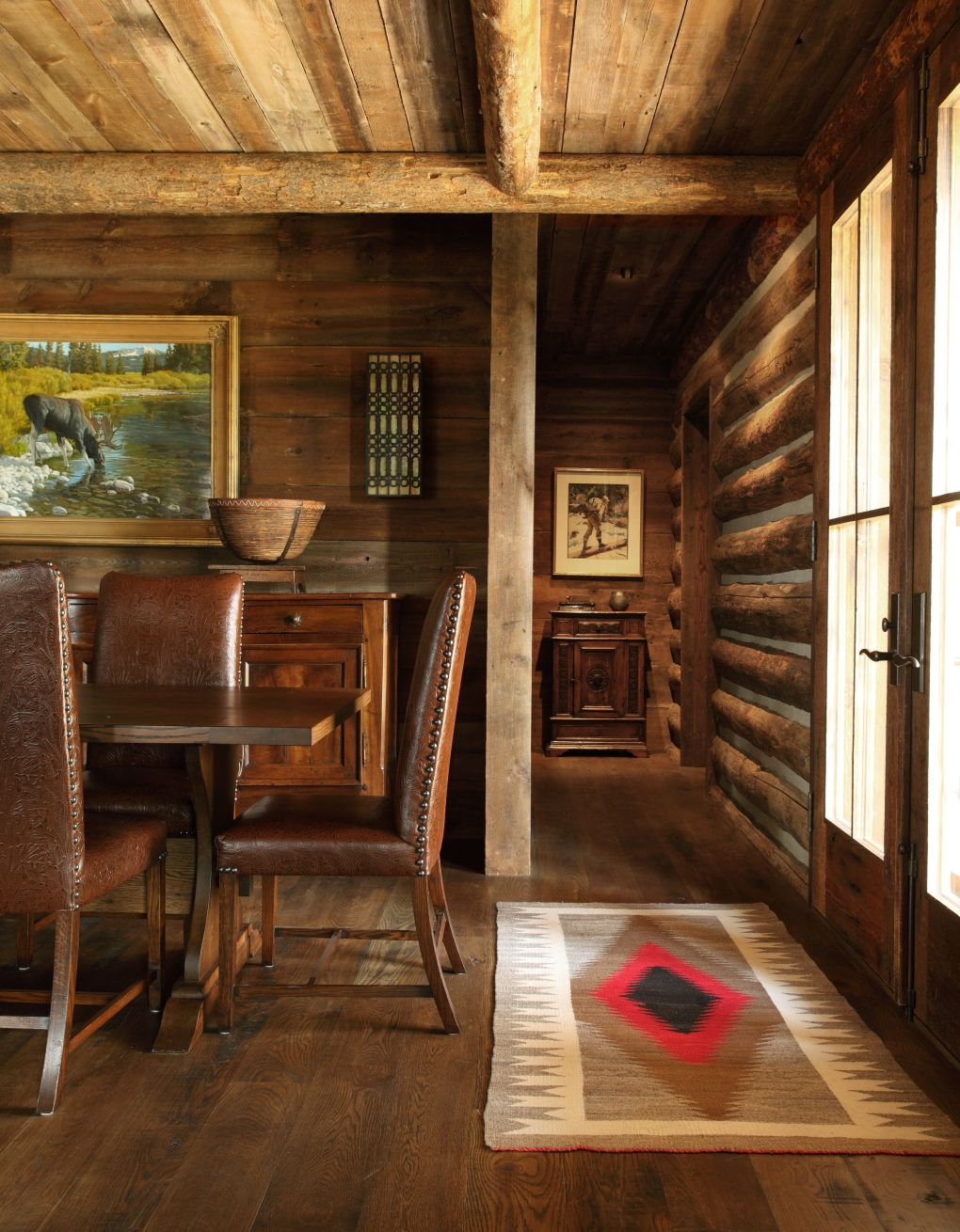 Explore Cabin Interiors, Rustic Interiors, And More! Moose Creek   Peace  Design