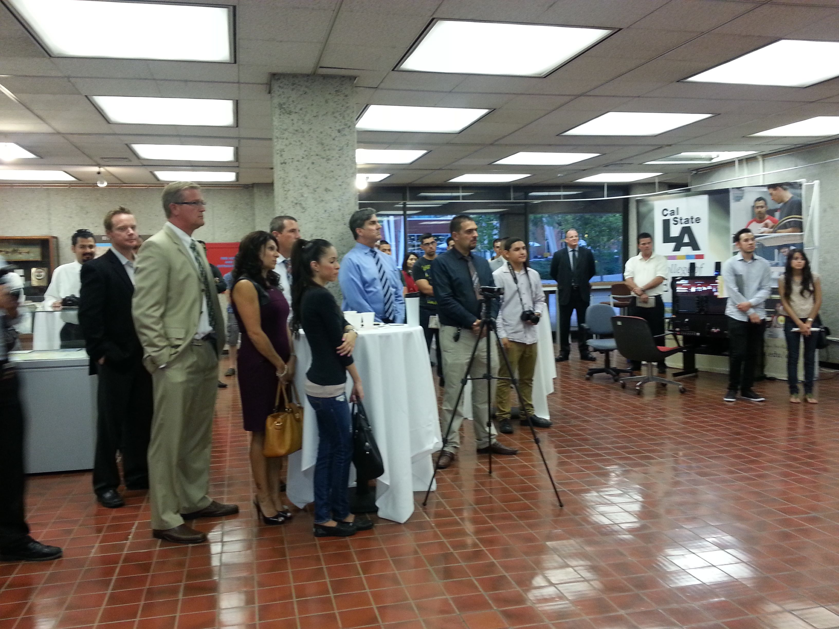 More than 80 guests attended the opening reception for the