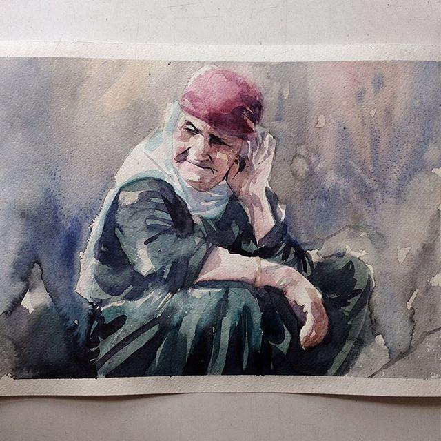 Quinta-feira,  #aquarela #watercolor. Últimas vagas para meu workshop em SP, dias 1 e 2 de outubro. Inscrições: contato@pleinairstudio.com.br.