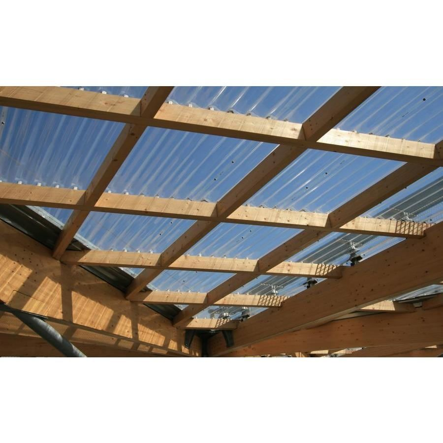 Tuftex Polycarb 2 17 Ft X 12 Corrugated Polycarbonate Plastic In 2020 Roof Panels Polycarbonate Roof Panels Plastic Roofing