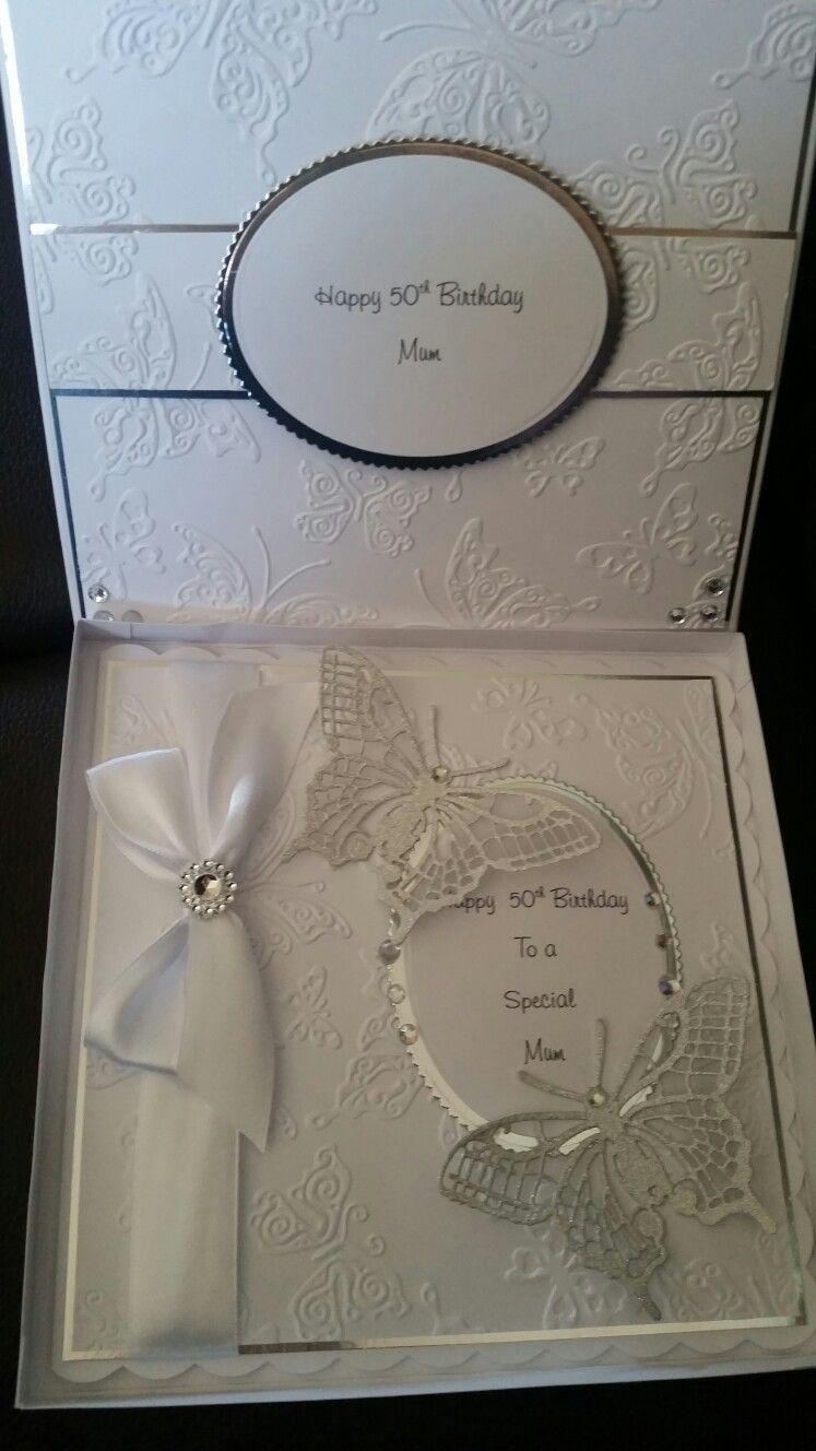 8x8 boxed wedding card
