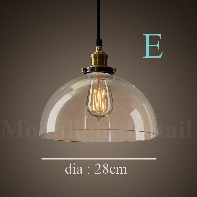 New modern vintage industrial retro loft glass ceiling lamp shade new modern vintage industrial retro loft glass ceiling lamp shade pendant light aloadofball Image collections