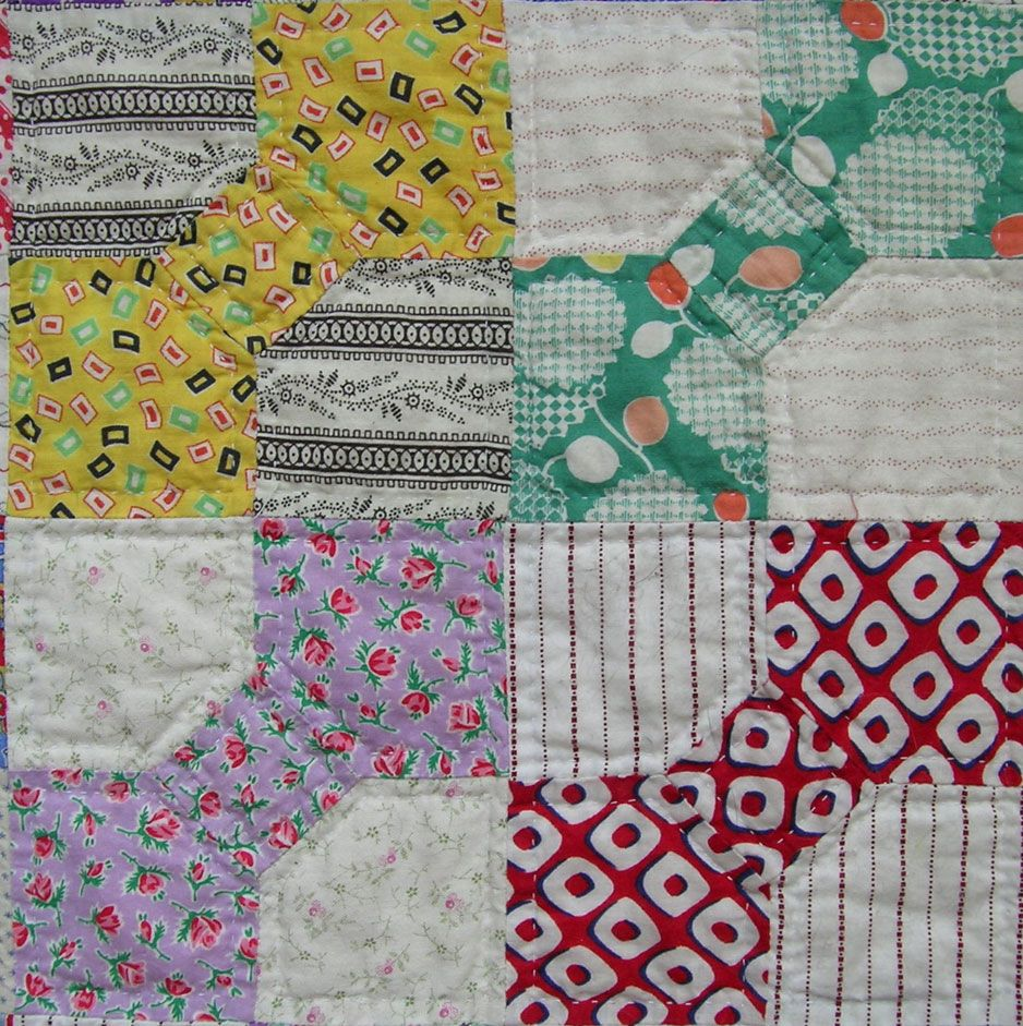 I love traditional bow tie  quilts...