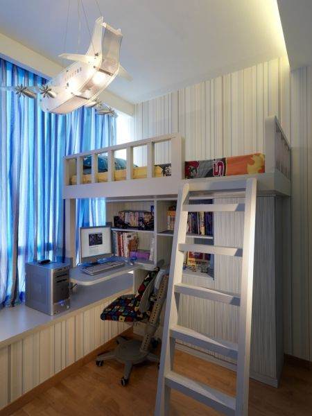 Kids Bedroom Renovation interior design for singapore condo, the seaview: this is a kid's