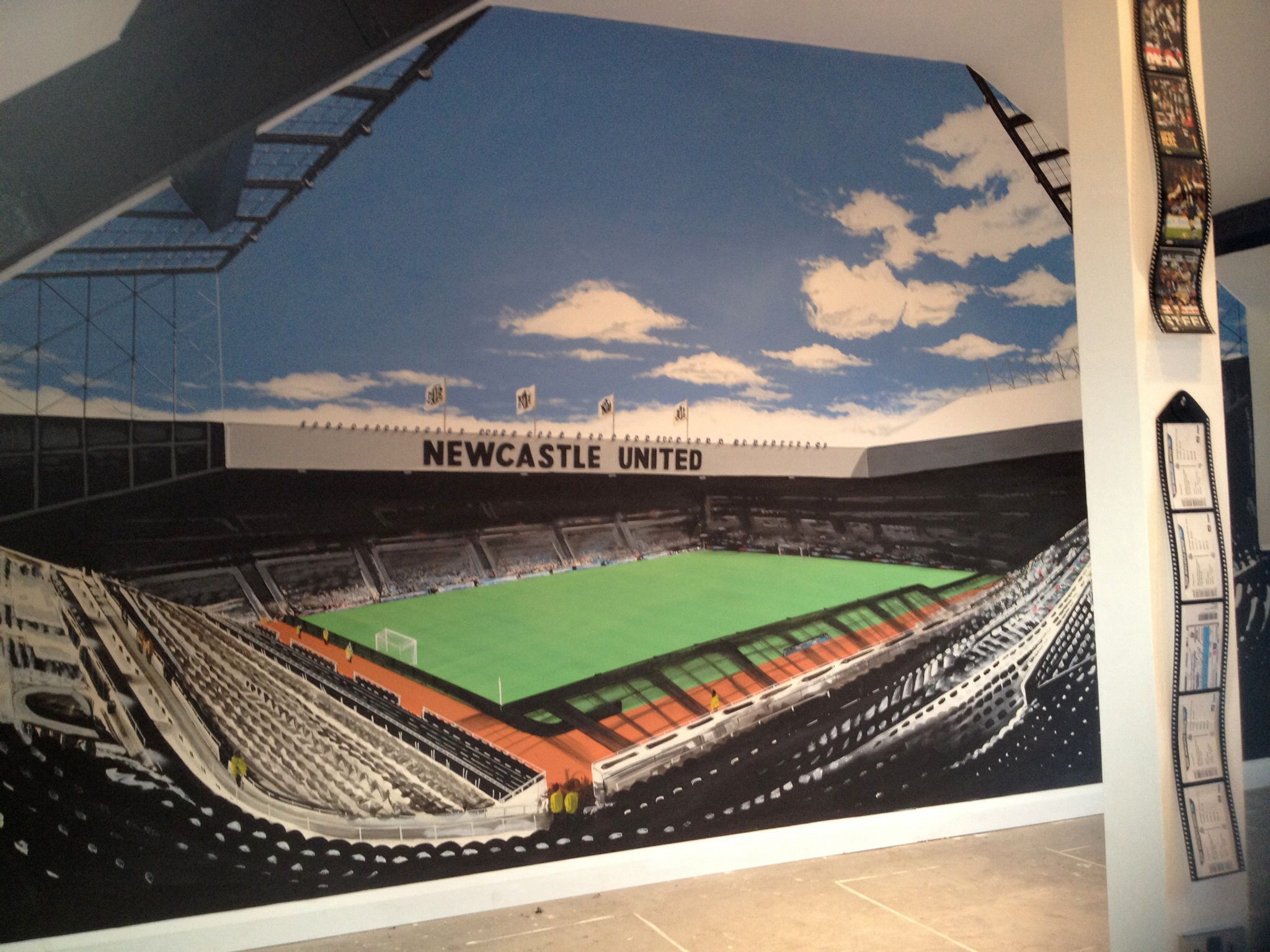 Newcastle Unites St James Park Painted Wall Mural Wall