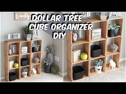 Photo of DOLLAR TREE WOOD CUBE ORGANIZER DIY