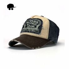 Retro fresco angustiado lleva gorra de béisbol del Snapback de la marca  hombres mujeres Retro Snapback sombreros Vintage Van algodón Gorras  CB22(China ... 7d79860aa49