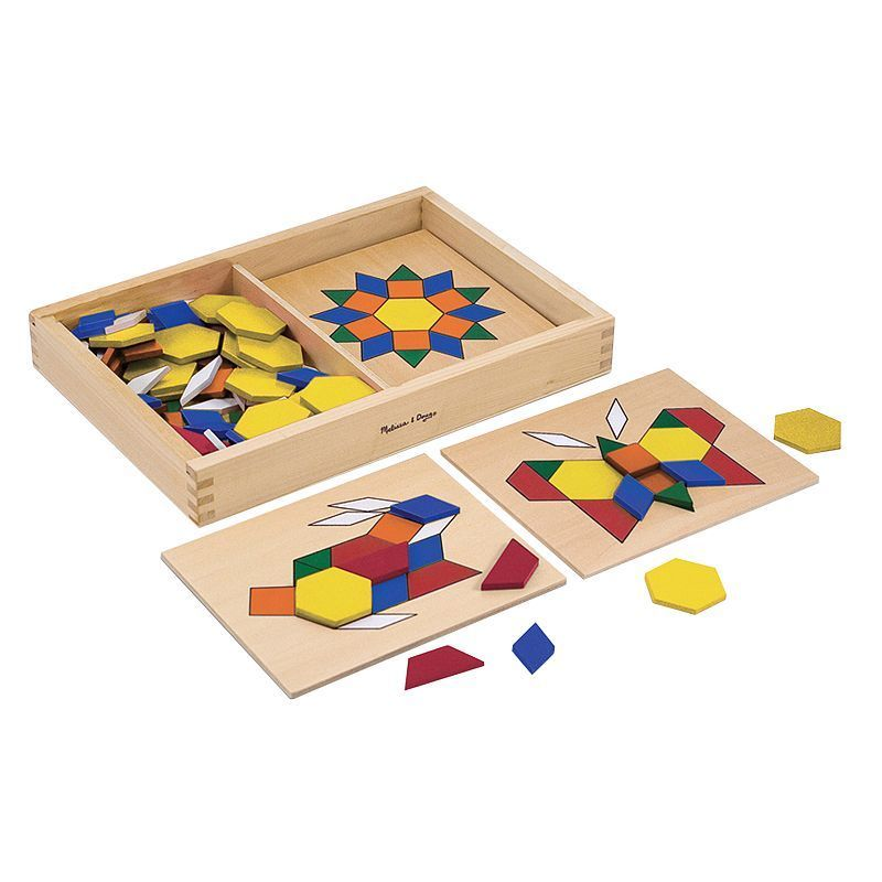 Melissa and Doug Pattern Blocks and Boards, Multicolor