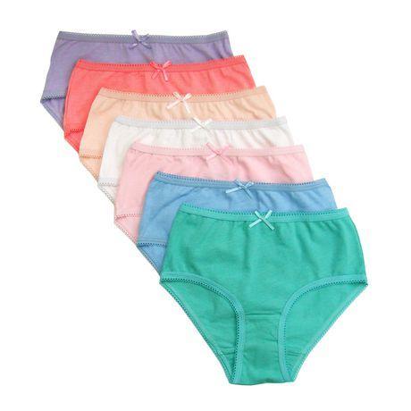 George Girls 7 Per Pack 100% Cotton Briefs Basic Colour Assortment