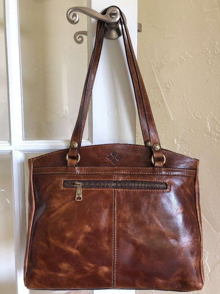 Patricia Nash Distressed Vintage Leather Poppy Tote Cognac 887986113999  568d87eedcb30