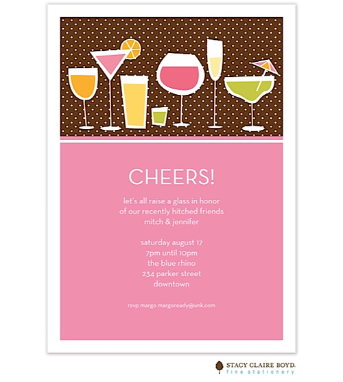 Post-wedding reception party invitations