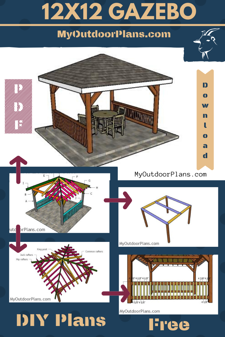12 12 Hip Roof Gazebo Plans Gazebo Plans 12x12 Gazebo Woodworking Plans Free
