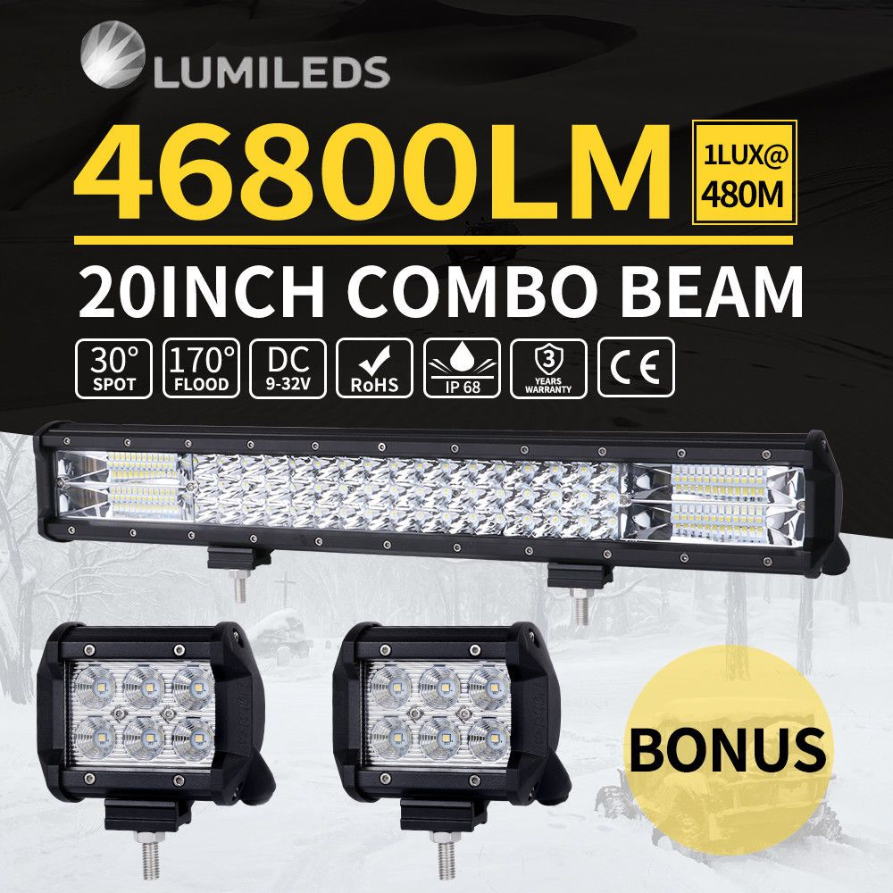 Details About 15 Off 20inch Cree Led Light Bar Combo Work Driving Light Wiring Loom Kit Led Light Bars Cree Led Light Bar Bar Lighting