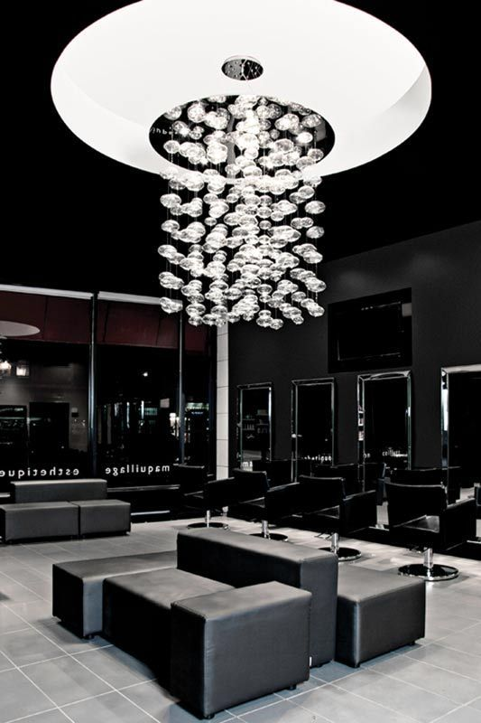 Carte Blanche Coiffure, Montreal | Salon ideas | Hair salon interior ...