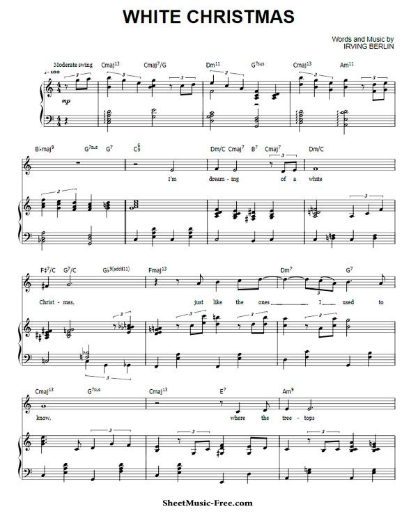 Free Printable Sheet Music For Piano: White Christmas Sheet Music Michael Buble