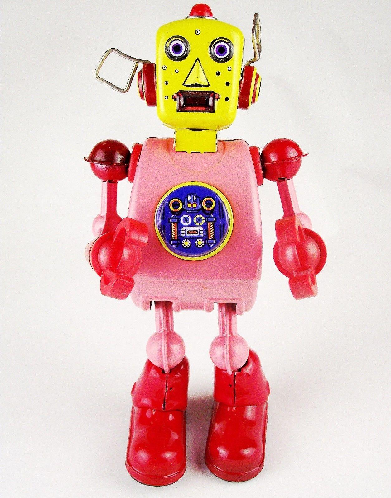 Retro Handmade Tin Clockwork Collectibles Toy Planet Robot Dh335 Ebay