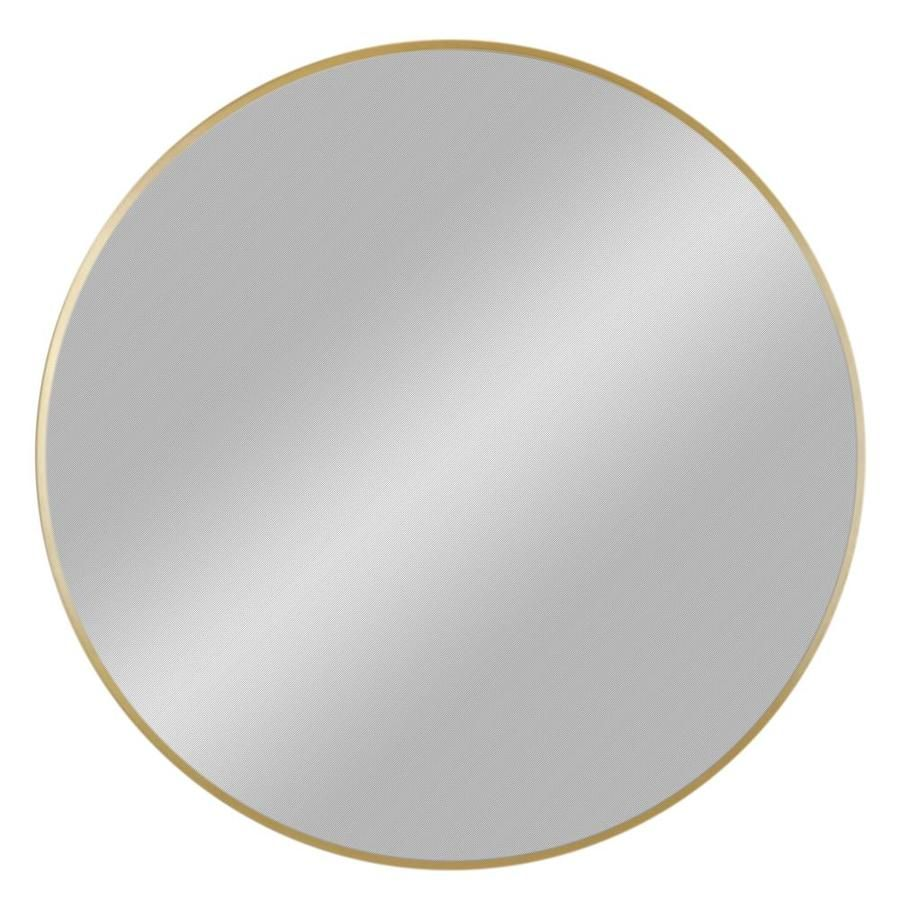 Enchante Alyssa Collection Gold Framed Round Wall Mirror | Lowe\'s ...