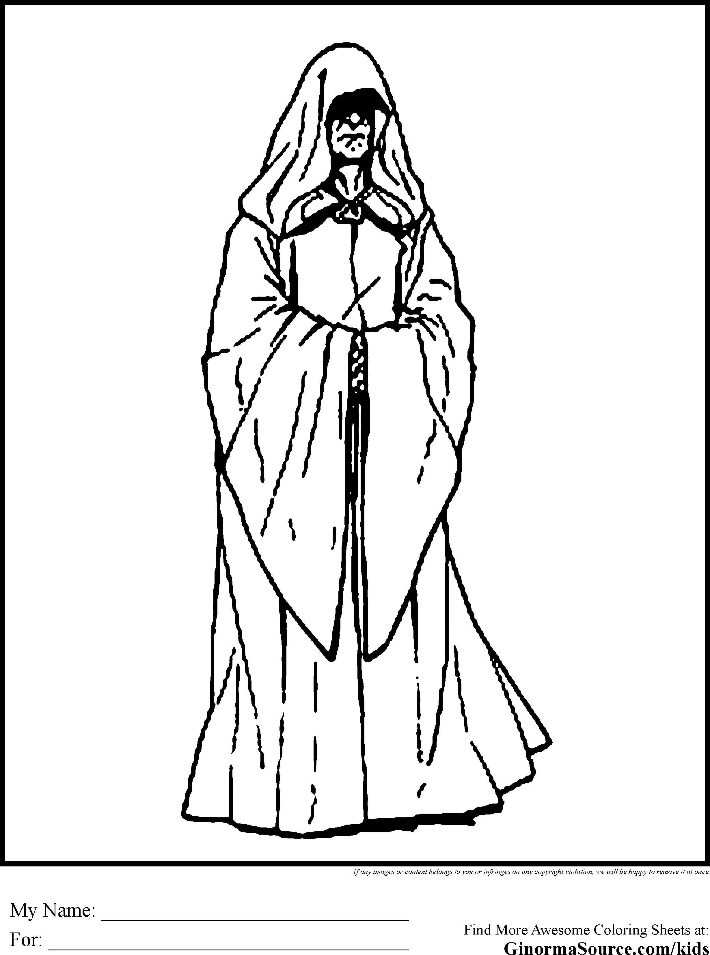 Darth Sidious Coloring Pages