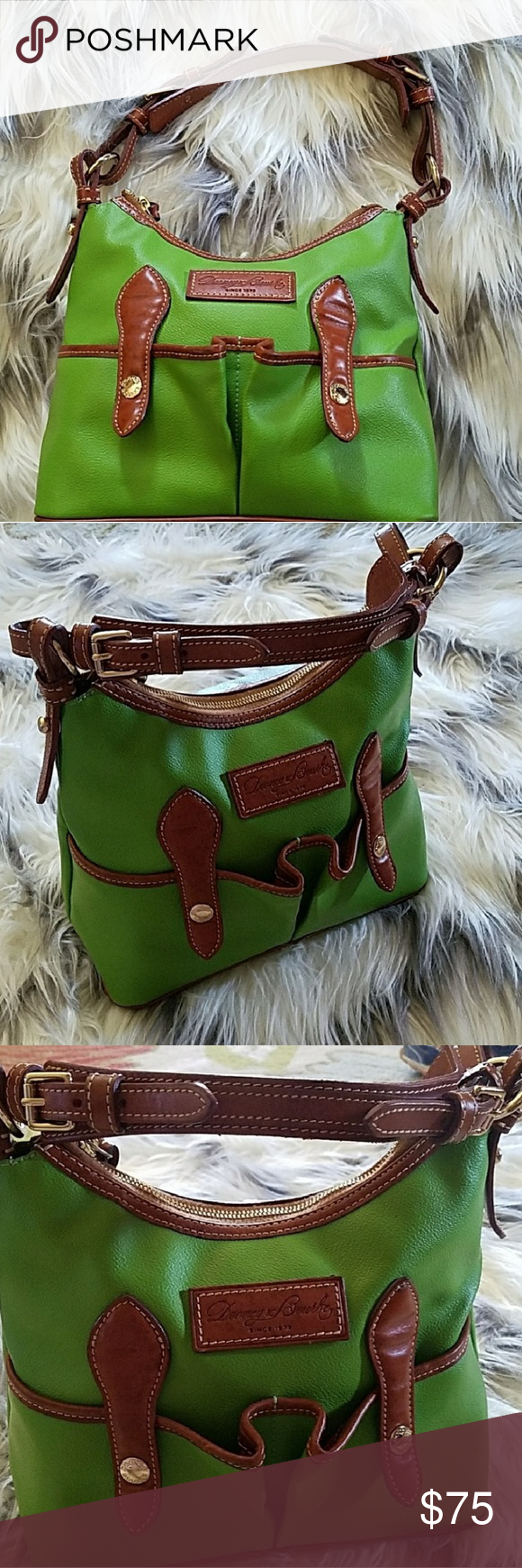 DOONEY & BOURKE LUCY KELLY GREEN SHOULDER BAG Green