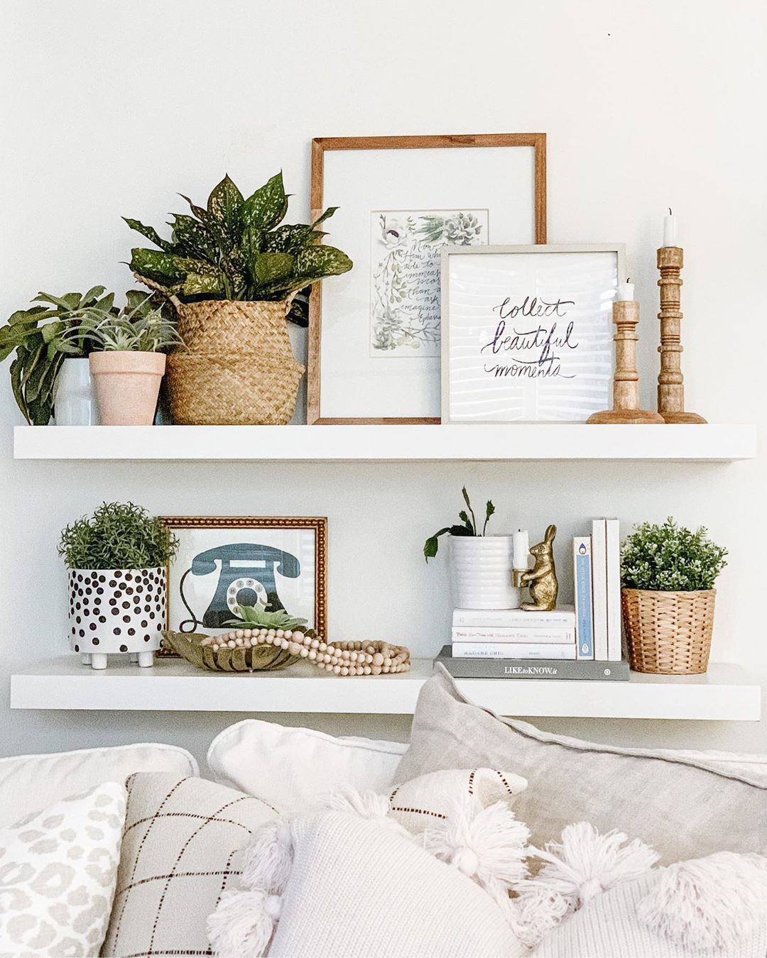 Brittany Jade Robertson On Instagram Christmas Decor Is Down And Regular Decor I In 2020 With Images Living Room Shelves Shelf Decor Living Room Shelf Decor Bedroom