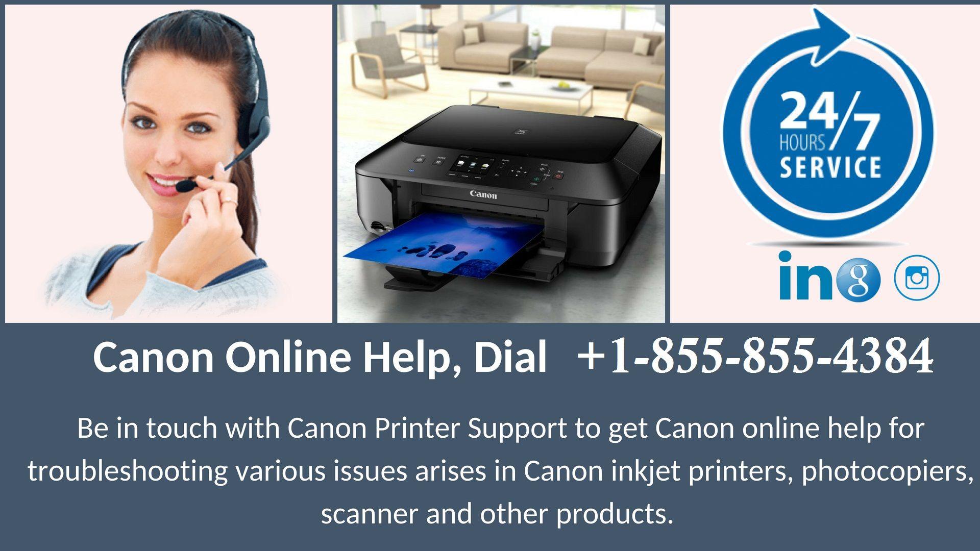Canon Printer Customer Service +18558554384 Phone
