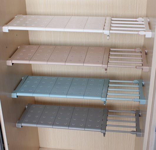 Expandable Shelf Closet Organizer, Adjustable Storage Shelves