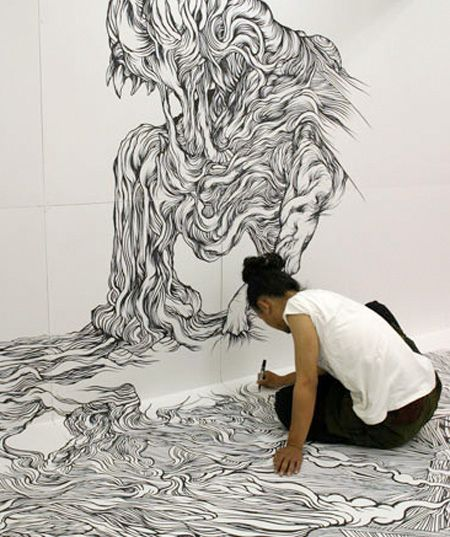 Japanese Artist Draw A Room Art Modern Art Pictures Drawings