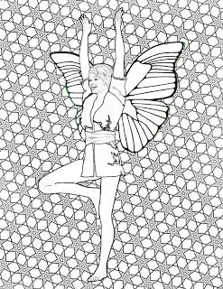 Pin On Yoga Fairies Adult Coloring Book Designed By Adele Aldridge