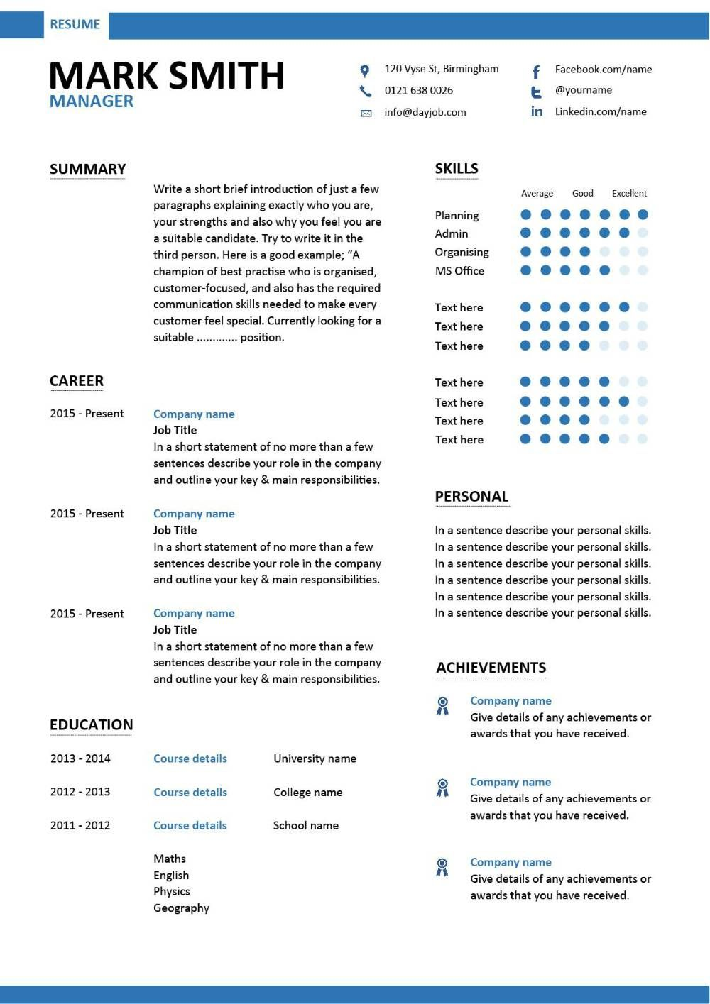 director of photography resume examples