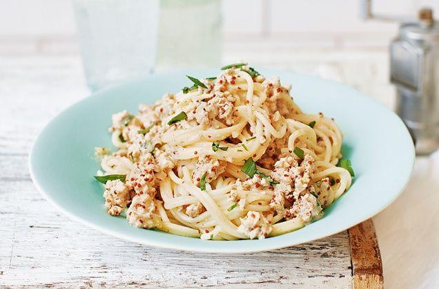 Creamy spaghetti with turkey and tarragon   Recipe ...