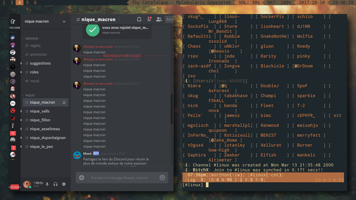 i3-gaps + lemonbar + powerline] Arch Linux rice | OS Themes