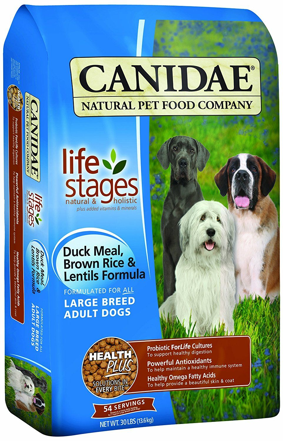 Canidae all life stages large breed adult dog food made