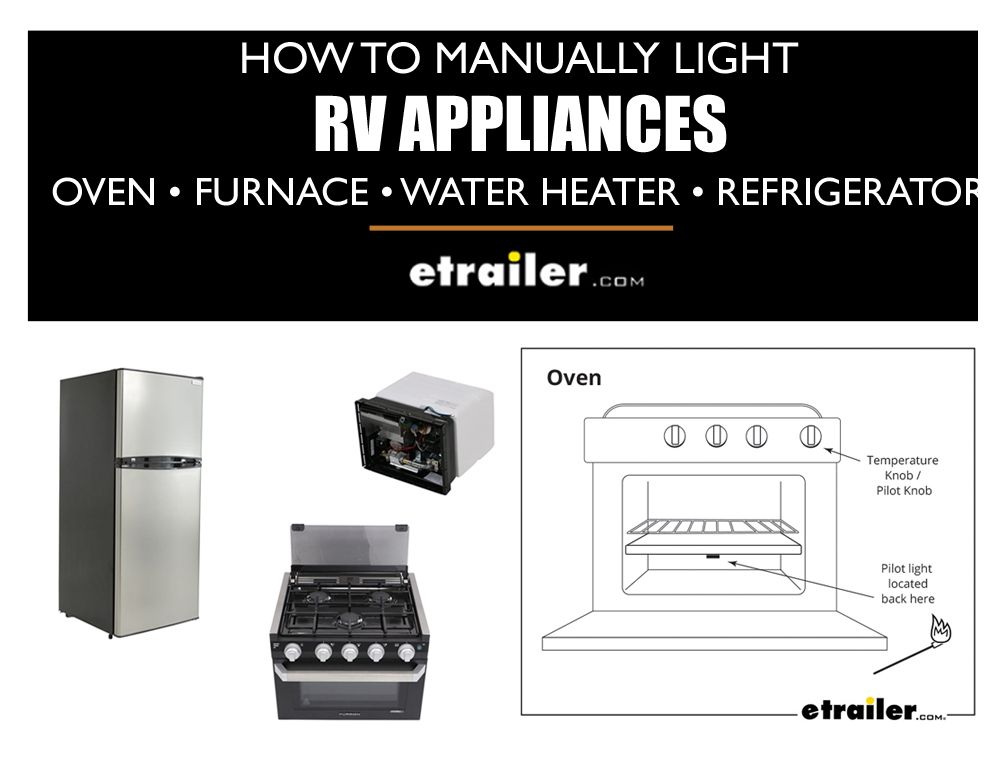 How To Manually Light An Rv Oven Furnace Water Heater Or Refrigerator Water Heater Rv Appliances Rv