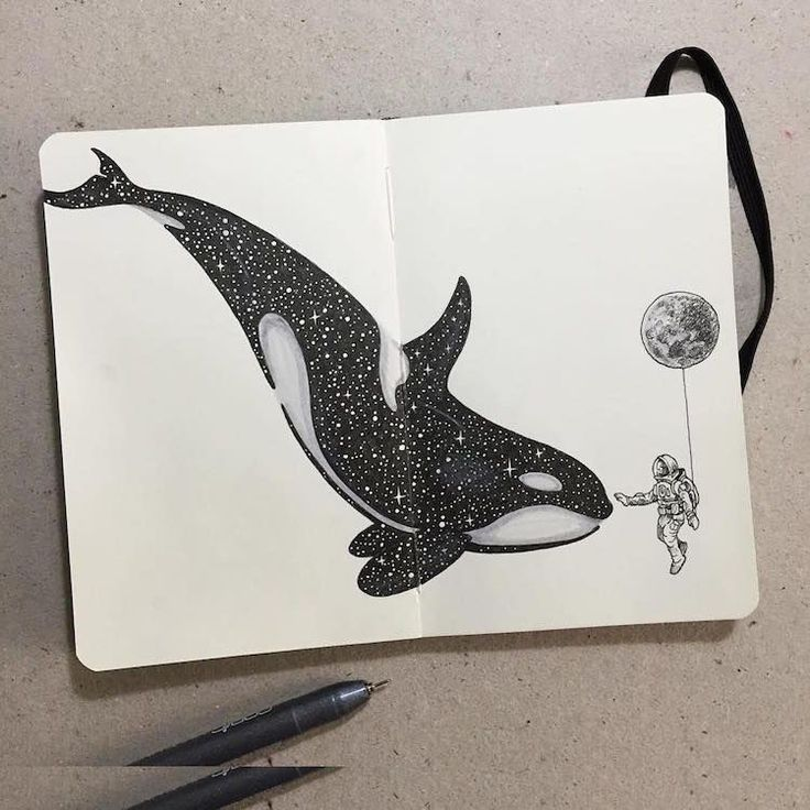 Photo of Surreal Inked Illustrations Combine Animals with Celestial Patterns
