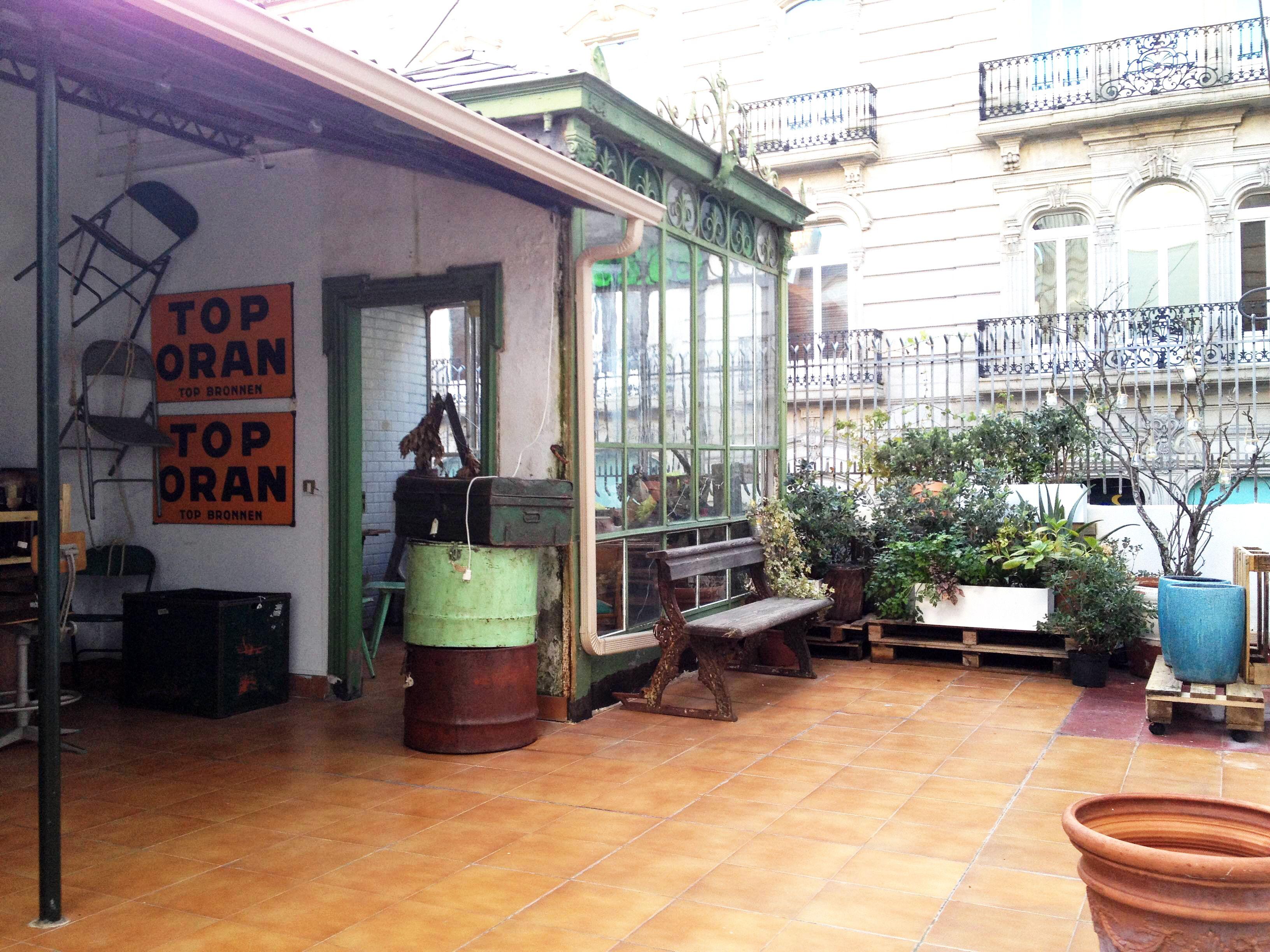 Terraza en el espacio #coworking y #pop up de VM17 en #Vigo