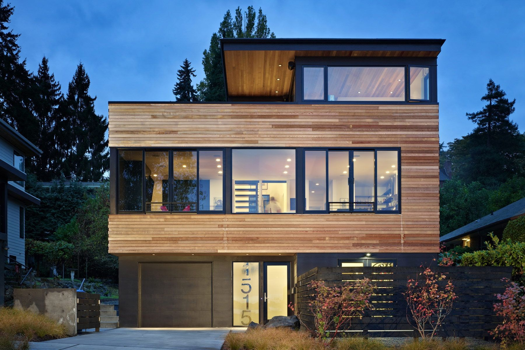 Architecture modern seattle home ranch house designs for Modern container home designs