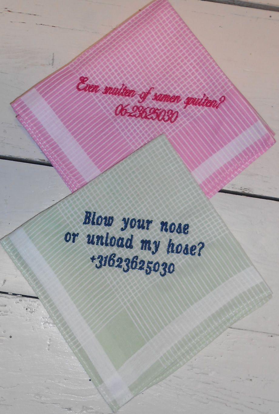 vraagteken zakdoeken