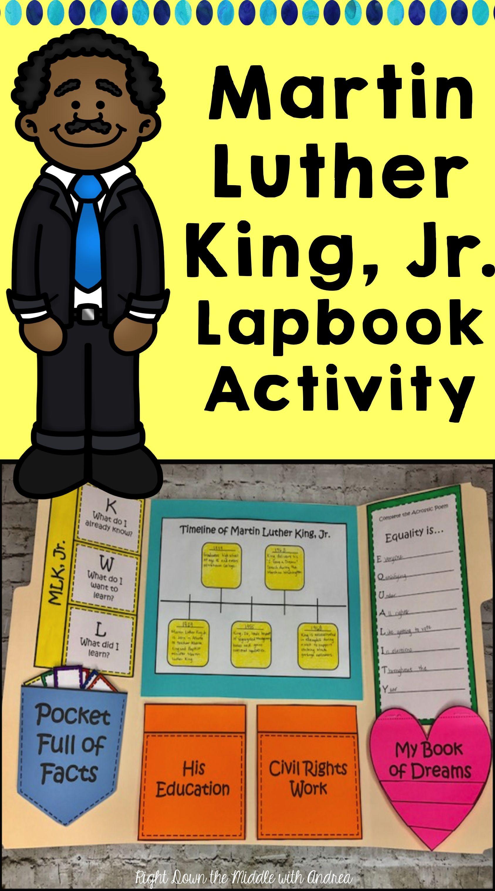 Martin Luther King Jr Lapbook Activity