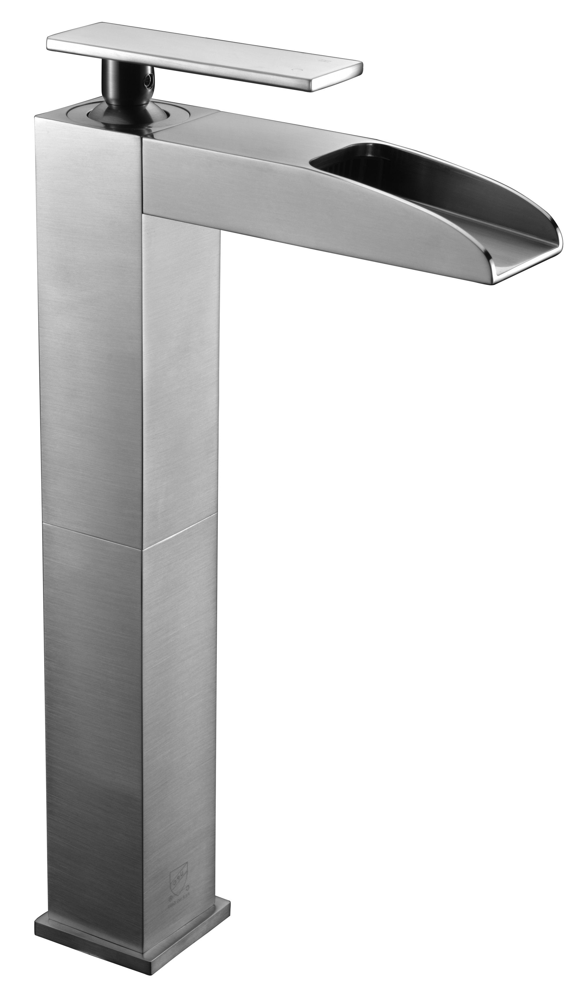 Alfi Brand Ab1597 Bn Brushed Nickel Single Hole Tall Waterfall