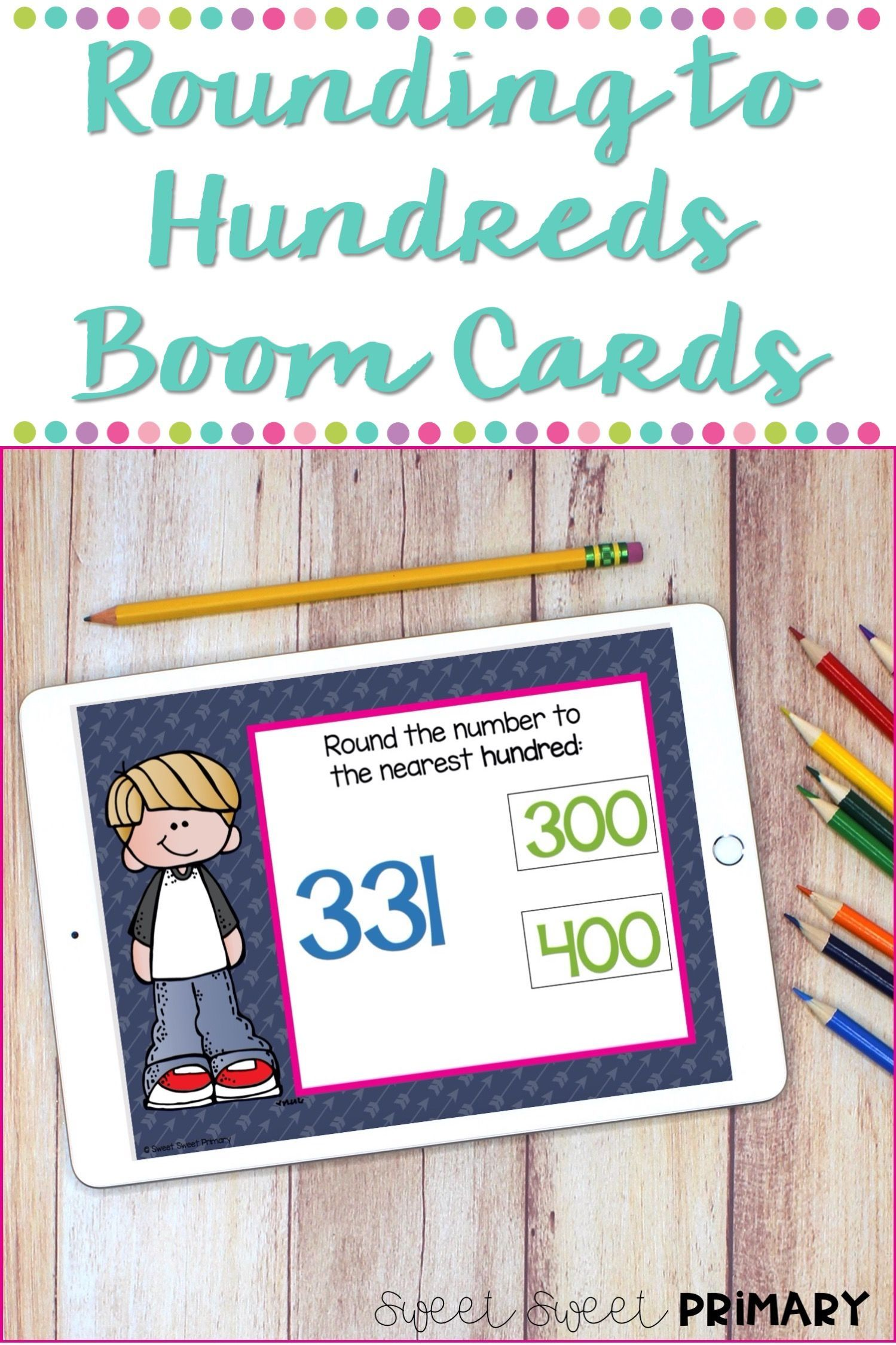 Rounding To The Nearest Hundred Boom Cards In