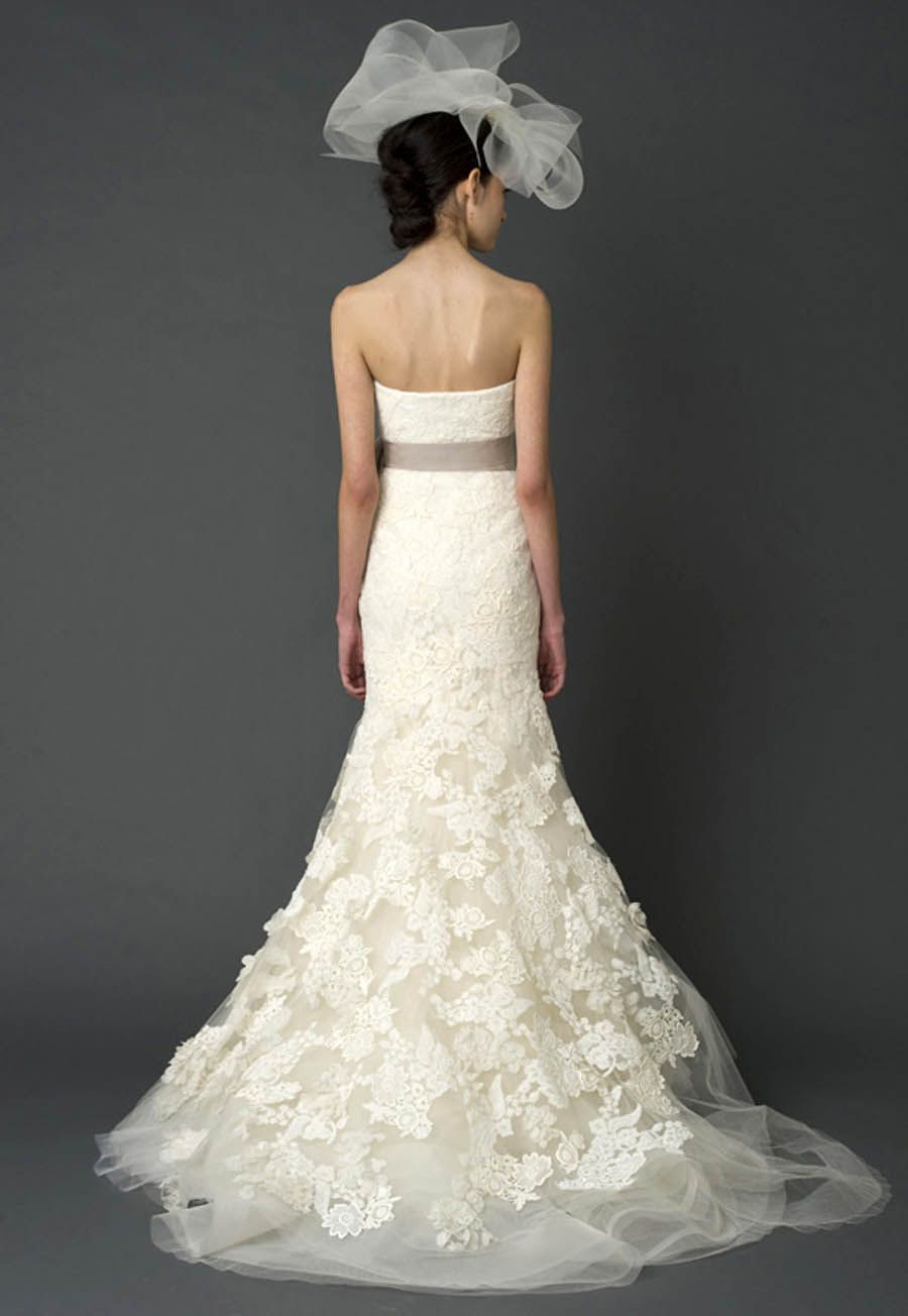 Vera Wang Hillary gown (back view). Vera Wang gowns are sold at The ...