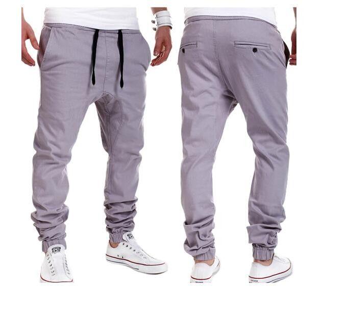 e90dc49e291 Pánské plátěné kalhoty s nízkým rozkrokem šedé – VELIKOST L Na tento  produkt se vztahuje nejen zajímavá sleva