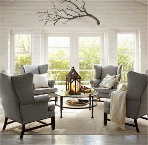 I love the branch above the windows.  Something similar above our fireplace maybe?