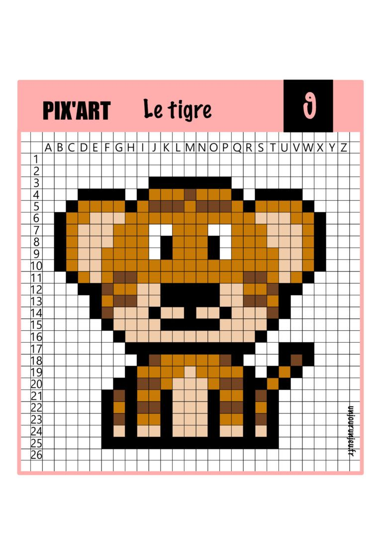 12 Modeles De Pixel Art Animaux A Telecharger Gratuitement