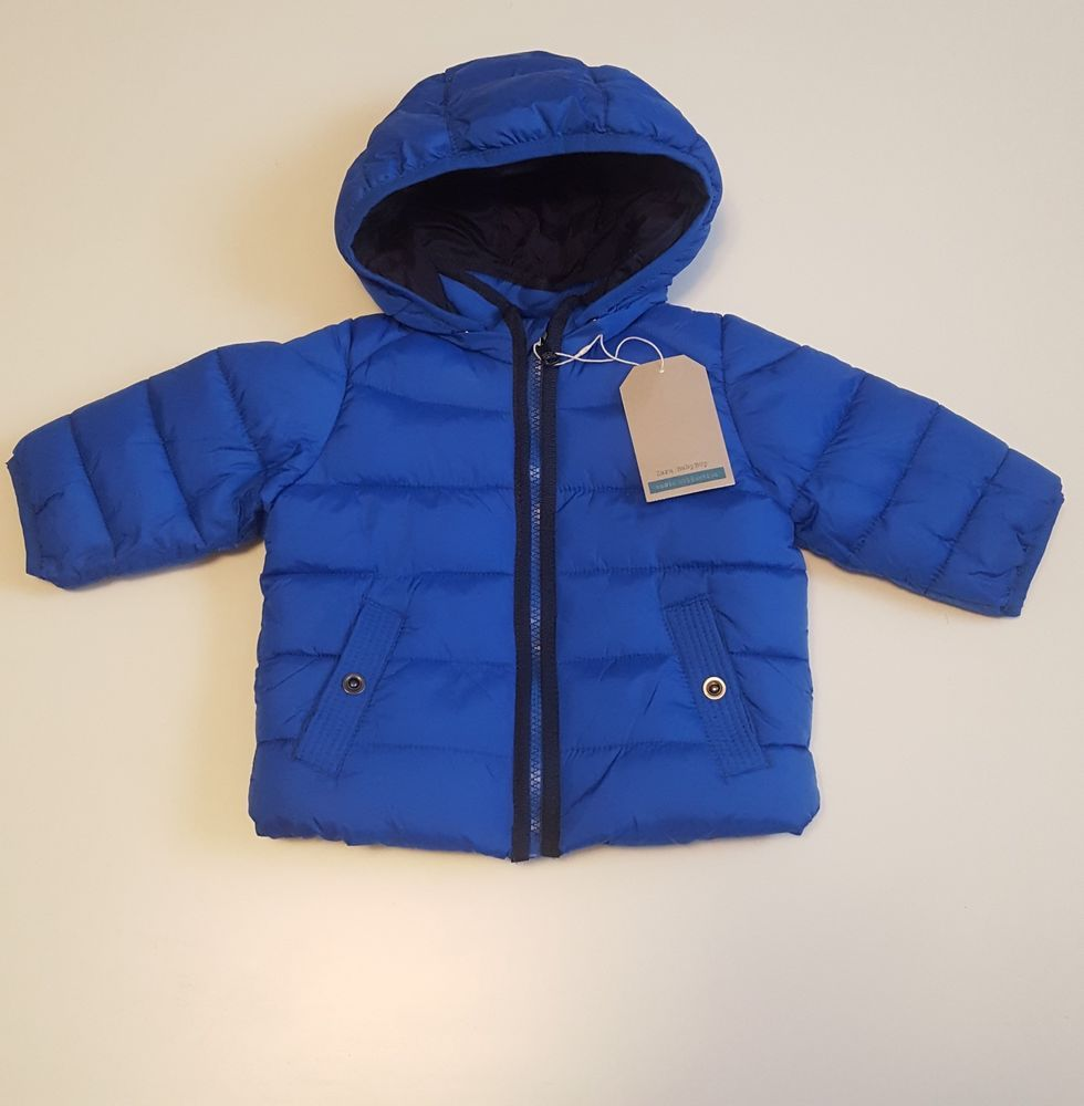 60f5280f Zara Baby Boy Puffer Jacket/Coat Blue With Snap Hood Outerwear 3-6 or 6-9  Months #Zara #Jacket #Everyday