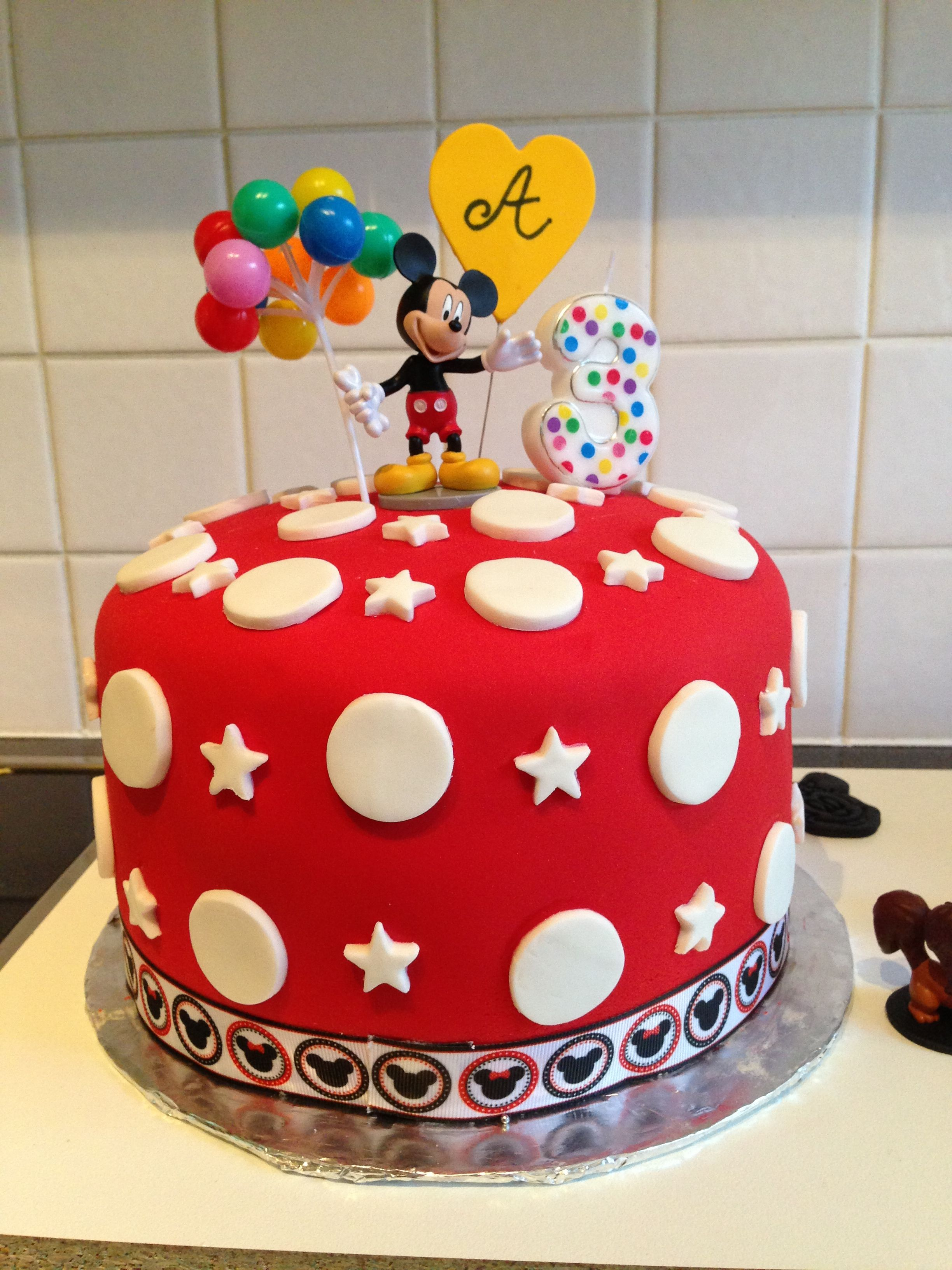 Swell Easy Diy Mickey Mouse Cake Mickey Mouse Cake Simple Birthday Funny Birthday Cards Online Hendilapandamsfinfo