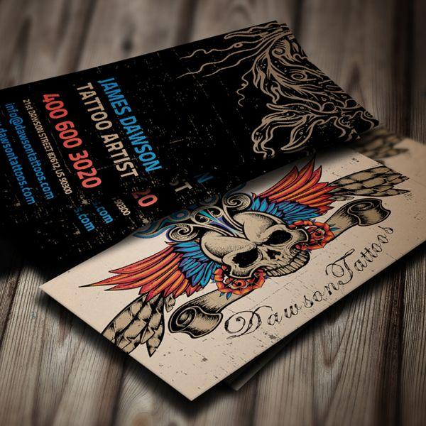 Tattoo Artist Business Card | Artist business cards