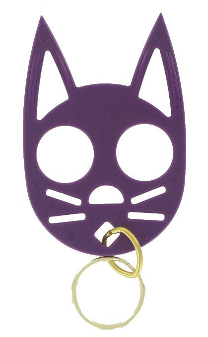 Amazon Com The Cat Personal Safety Keychain Purple Everything Else Self Defense Keychain Cat Self Defense Keychain Cat Keychain