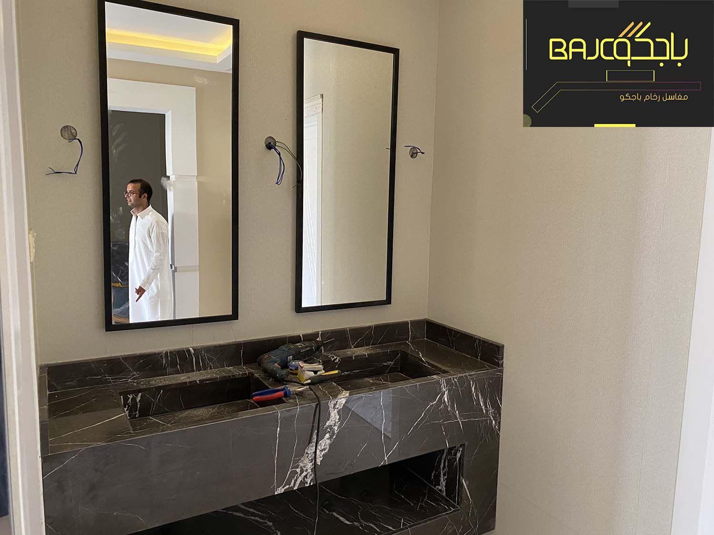 مغاسل بترا جراي Framed Bathroom Mirror Bathroom Mirror Mirror